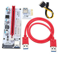 VER007C USB 3.0 PCI-E 1X to16X Extender Riser Card Adapter For 8 GPU Miner ff