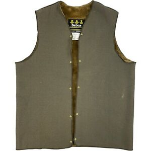 BARBOUR Warm Pile Lining Men's A295 C42 / 107cm Acrylic Lining Waistcoat Brown