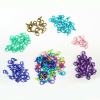 50Pcs Lobster Clasps Connectors Blue Pink Purple Green Mixed Jewelry DIY 14mm