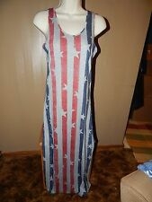 "NWT Alternative Apparel ""Stripes & Stars"" Dress Size M"