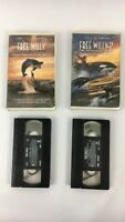 Free Willy And Free Willy Lot of 2 VHS Tapes
