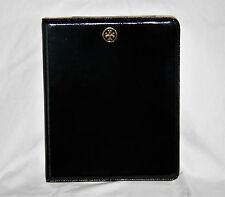 Tory Burch Black Patent Leather Flip Tablet iPad Case *Excellent*