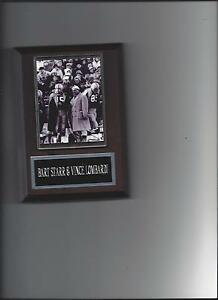 BART STARR & VINCE LOMBARDI PLAQUE GREEN BAY PACKERS FOOTBALL NFL