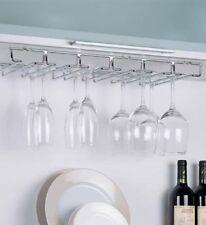 Stemware Rack Hanging Storage Wine Glass Holder Under Counter Cabinet Organizer