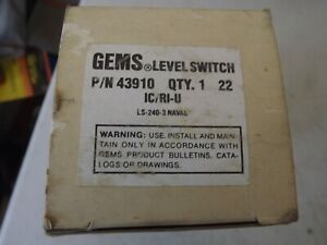 GEMS LEVEL SWITCH 43910 DELAVAL GLASS MARINE USE