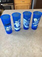 Tupperware Polar Bear Tumbler Cups 16 oz set of 4 EUC!