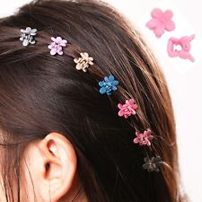 30 PCS Kids Baby Plastic Hair Clips Clamp Mini Claw Girls Hairpins Flower