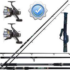 Kit CarpFishing 2 canne due mulinelli fodero pesca carpa lago fiume con fil FDT