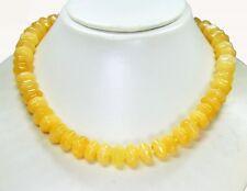 Sehr schöne Halskette aus dem Edelstein Honigcalcit in facettierter Radform