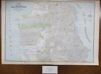 "Vintage 1900 SAN FRANCISCO CALIFORNIA Map 22""x14"" Old Antique Original PRESIDIO"