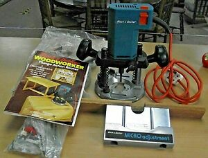 BLACK & DECKER DN66 ROUTER - BOXED, INSTRUCTIONS & ACCESSORIES