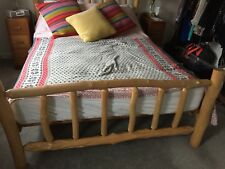 Rustic King Size Bed Frame Handmade Bespoke -mattress Not Included
