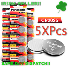 CR2025 3V Lithium Coin Button Cell Battery 5 x Panasonic