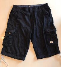 SoulCal & Co Dark Blue Cargo Denim Shorts Mens Size Large
