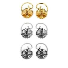Levears 1 Pair 14k Gold Over Sterling and 2 Pair Stainless Steel Earring Lifts