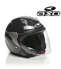 """k01 - Casco Axo """"Jet Store"""" Visiera Lunga colore Nero Metallico Taglia XS 54 cm"""