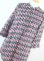 Vegas Womens Pink Abstract Top Size L