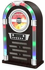 iTek Bluetooth Multi Functional LED Jukebox Speakers Radio CD player, I60018CD