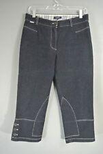 BURBERRY Capri womens Dark Blue Jean Pant Cropped Fitted denim sz 6/S