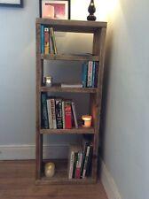 Wooden Rustic Reclaimed Wood Shelving unit tall boy storage scaffold plank shelf