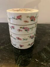 New listing Antiques Chinese Export Porcelain Stacked Bowl Set