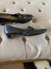 Vintage women's Air Step black pumps with wooden heels 7.5