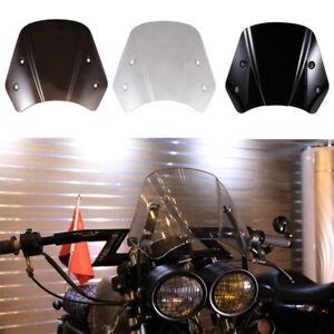 5-7'' Universal Motorcycle Headlight Fairing Windshield Windscreen with Bracket