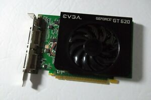 EVGA GeForce GT 620 PCIe Graphics Video Card 1GB DVI mini HDMI 01G-P3-2621-KR