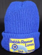 Rabble Rouser Lures Patch Hat Field Tester Knit Winter Beanie Blue Fishing