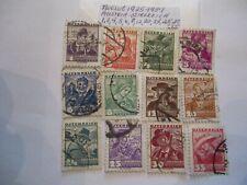 Twelve 1925-1937 Austria-Osterreich Postage Stamps-1,3,4,5,6,8,12,20, 24,25,30,35