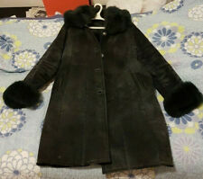 Women's Inverted Sheep Winter Coat with Cotton Sews, Fox fur at arm ends and top
