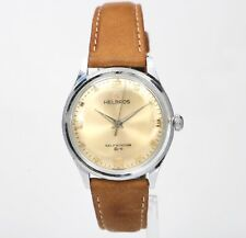 Vintage HELBROS Automatic 33mm Champagne Dial Made in Germany Mens Watch