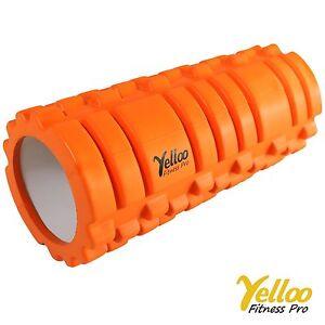 Yelloo FOAM ROLLER Rullo Massaggi PILATES Yoga Sport Fitness ER2001 ARANCIONE