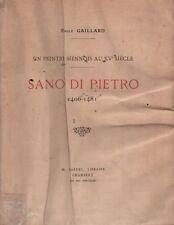 Sano Di Pietro 1406-1481. Emile Gaillard. Dardel. 1923. ARCH6