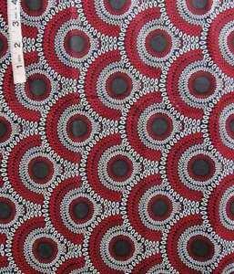 Red & White Half Circles Print Cotton Quilting Fabric,Crafts,Cranston Print