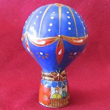 Rochard Limoges France Hand Painted Hot Air Balloon Porcelain Trinket Box