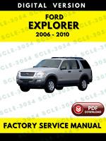 Ford Explorer 2006 2007 2008 2009 2010 Factory Service Repair Workshop Manual