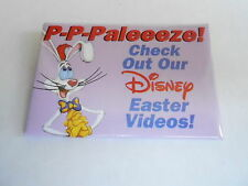 VINTAGE PROMO PINBACK BUTTON #90-067 - DISNEY - ROGER RABBIT- EASTER VIDEOS