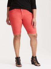 TORRID Red Wash Jegging Bermuda Shorts PLUS SIZE 26 NWT $45 LG01