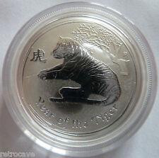 2010 Australian Perth Mint Lunar Year of the Tiger 1/2 oz .999 Silver  Coin