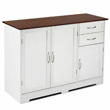 Storage Cabinet Buffet Home Kitchen Storage Table Sideboard W/2 Drawers Utility