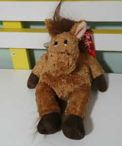 RUSS BERRIE TOY CASSIDY BROWN HORSE BEANIE SOFT TOY PLUSH TOY 22CM