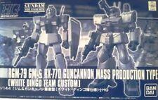 BANDAI HGUC 1/144 RGM-79 GM & RX-77D GUNCANNON WHITE DINGO TEAM CUSTOM Model Kit
