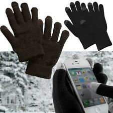 Winter Thermal Knit Insulated Finger Mitten Touch Screen Solid Black Gloves Lot