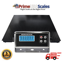 5 Year Warranty 2x2 Floor Scale 10,000 lb with Digital Indicator & Calibrated