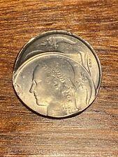 Belgique 1 franc 1977 fr , erreur de frappe , rare