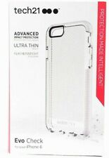 Tech21 Evo Check for iPhone 6  /6S - Clear / White  - New In Box