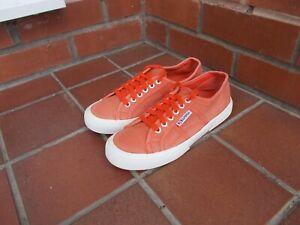 SUPERGA Orange Trainers * 6 uk *