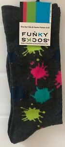 Funky Socks Paint Splash Size 6-12