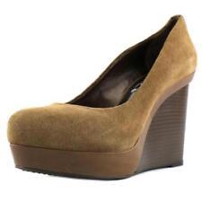 42 scarpe con chiusura sul tallone da donna marrone